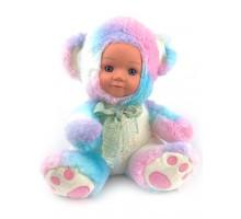 Кукла     Мишка цветной 25 см