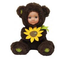 Кукла  Anna De Wailly  Медвежонок с цветочком 20см
