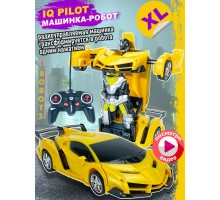 Машинка    , трансформер на радиоуправлении, желтый