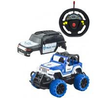 Игрушка-радиуправляемая машинка    , внедорожник 2 в 1, белый-синий