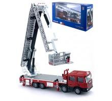 Машинка     коллекционная, спецтехника - пожарная машина с лестницей M
