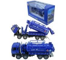 Машинка     коллекционная, спецтехника - автомобиль-цистерна L- синяя