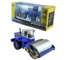 Машинка     коллекционная, спецтехника - каток S синий